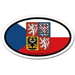 Czech Republic CZ Flag Car Bumper Sticker Decal Oval