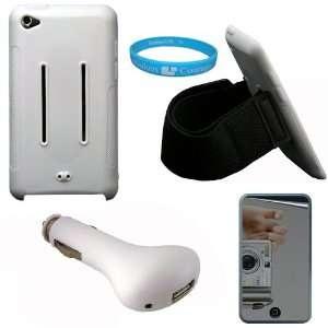 White Rubberized Protective Silicone Skin Cover Case with