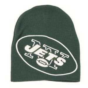 New York Jets NFL Team Apparel Large Logo Knit Beanie Hat