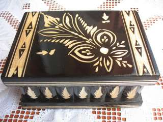 KalotArts HANDCRAFTED WOODEN Magic Jewelry Puzzle Money Lock Box