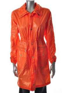 MICHAEL Michael Kors NEW Orange Rainwear BHFO Coat Sale Misses XS