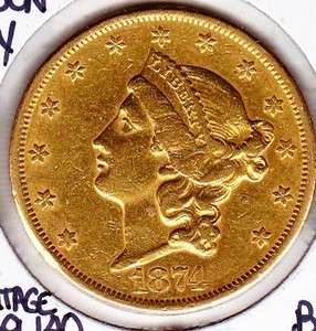 CC Carson City United States $20 Liberty Head Gold Eagle AU DETAILS