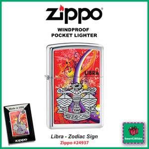 LIBRA_ZODIAC SIGN_SEPT 23   OCT 23_HIGH POLISH CHROME ZIPPO LIGHTER