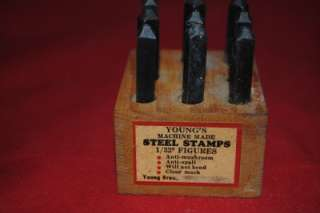 Vintage HAND CUT Steel Stamps Your Choice   Price Each M1917/18/19/20