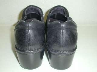 Ariat Malibu Slip On Black Leather Zipper Clog Heels Comfort Shoes