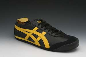Asics Onitsuka Tiger Mexico 66 Sneakers in Black/Yellow (HL202 9004