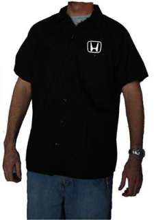 DICKIES Honda Racing Mechanic Work Shirt New Short Sleeve Button Up