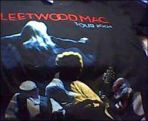fleetwood mac 2004 tour T shirt mens med