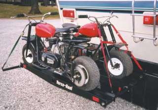 VERSA HAUL DOUBLE MOTORCYCLE SCOOTER CARRIER RACK+RAMP