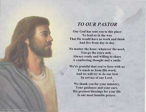 OUR PASTOR Priest Poem Jesus Print Personalized Name