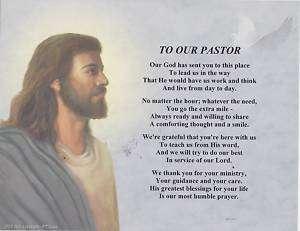 OUR PASTOR Priest Poem Jesus Print Personalized Name