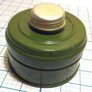 MILITARY GAS MASK FILTER CAN CANISTER GREEN M 5 or RN 5 47 1 89