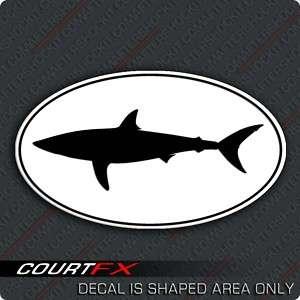 Mako Shark Sticker Short Fin Marine Decal