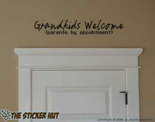 Grandkids Welcome Vinyl Lettering Words Artwork Wall Decals Stickers