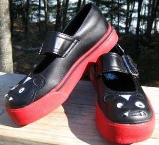 TUK New Womans 5 6 7 8 9 10 11 Red Black VAMPIRE Bat Teddy MARY JANE
