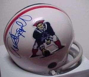 ANDRE TIPPETT signed New England Patriots HOF 08 Helmet