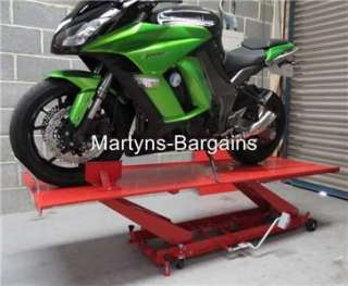 Motorbike Lift. Large Motorcycle lift.Hydraulic Foot Pump.220cm Long x