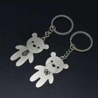 Cute Bear Design Metal lovers Couple Keychain Gift