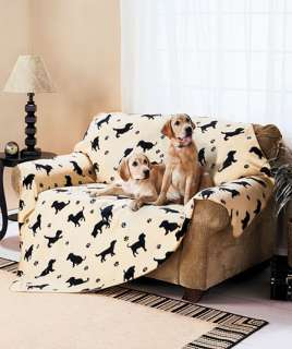Ft. Fleece Pet Throw Dog Puppy Crate Protect Furniture Car Paw Prints