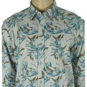 Hugo Boss Lucas Floral Mens Shirt Blue Regular Fit XXL