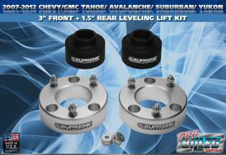 2007 2012 Chevy/GM Tahoe Avalanche Yukon Suburban 3 Full Lift Kit PRO