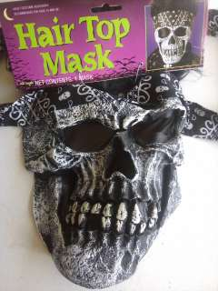 MASK bandanna skeleton wig scary mens adult halloween costume