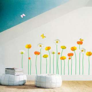 FLOWER GARDEN MURAL ART DOCOR WALL PAPER STICKER DECALS