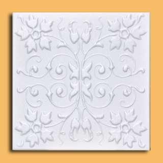 Antique Ceiling Tile   20x20 Polystyrene CAPRI White EASY INSTALATION