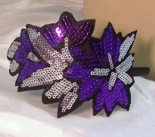 GOLD SILVER SEQUIN Flower Headband Hair Accessory