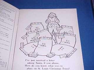 1931 STIX, BAER & FULLER SANTA TOY COLORING BOOK UNUSED