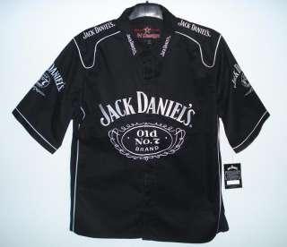 SIZE 3XL Nascar Jack Daniels BLACK Pit crew shirt XXXL NEW