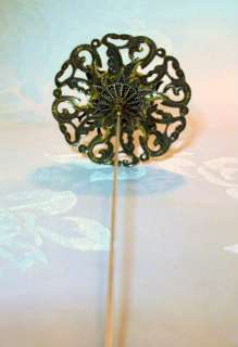 Style Victorian Art Nouveau Art Deco Bronze Bumble Bee Hat Pin