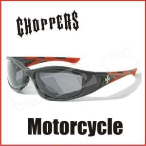 Choppers Sunglasses Men Motorcycle Goggles Black Red