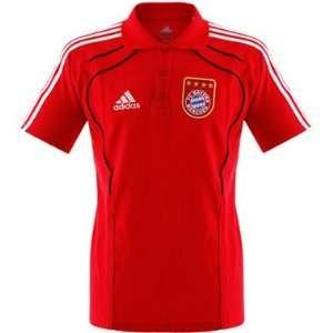 Adidas FC Bayern München Training Polo rot 2010 2011 Farbe rot/weiß