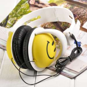 Fashion Lovely Smiling Face Doll PC Earphone Headset