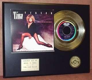 TINA TURNER GOLD 45 RECORD LIMITED EDITION DISPLAY