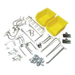 26 Pc. Heavy Duty Locking Pegboard Hook and Bin Storage Kit 76901 at