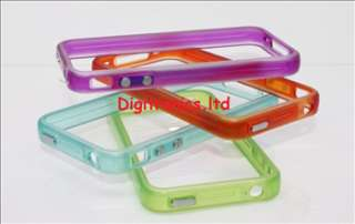 Orange Glow Bumper Signal Case Cover Apple iPhone 4G UK