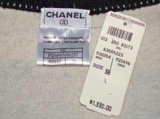 CHANEL classic cashmere sweater suit set tank dress cardigan vest 36
