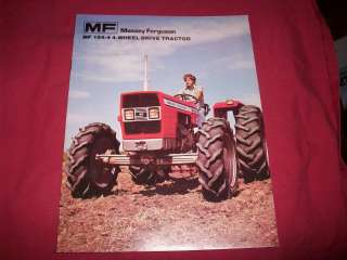 Massey Ferguson MF 184 4 4 Wheel Drive Tractor 8 Page Color Brochure