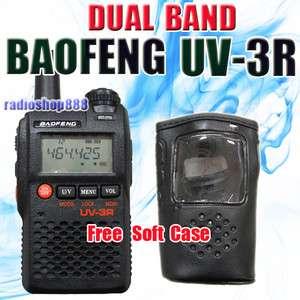 BAOFENG UV 3R VHF/UHF 136 174 400 470 DUAL BAND RADIO