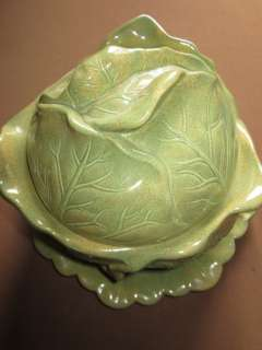 Vintage Cabbage Covered Vegetable Dish Ceramic HOLLAND MOLD