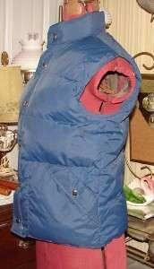 Vtg 70s Down East Ski Vest/Jacket Puffy Down