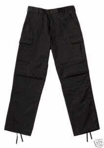 FORCE BDU PANTS   BLACK ZIPPER PANTS XSMALL 4 XL 613902297142 |
