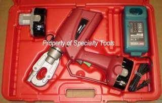 Burndy PAT600 battery operated Hydraulic crimper Patriot crimping