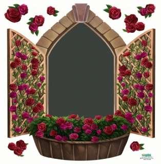 Roses Kitchen Chalkboard Window Mural Wall Decal Kids