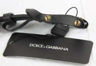 NEW DOLCE & GABBANA BLACK PIN BUCKLE LEATHER BELT 105/42