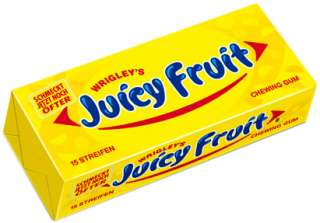 Wrigley Juicy Fruit 8 x 15 Streifen Wrigleys Kaugummi