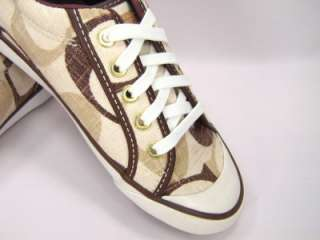New Coach Barrett Signature Khaki Brown Sneakers 9.5