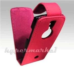 FOR SONY ERICSSON VIVAZ PRO HOT PINK LEATHER FLIP CASE